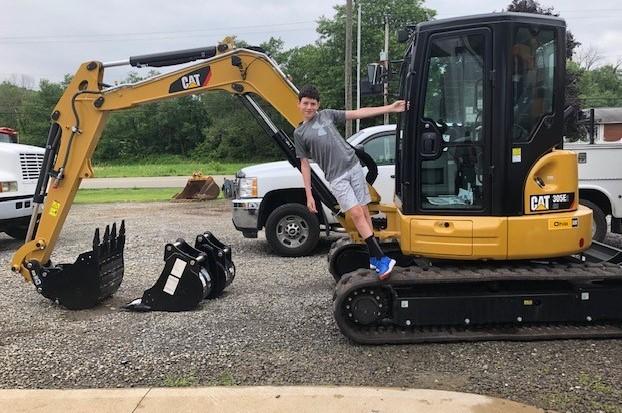 Keenan on tractor