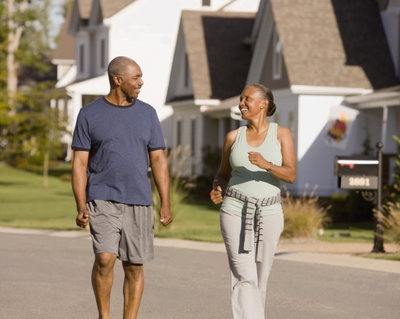 Getty - Senior African American couple walking together