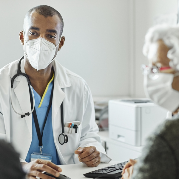 primary care PCP doctor's office visit elderly couple