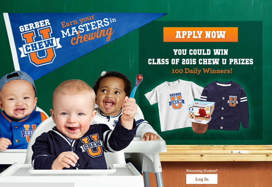 """Gerber® Helps Babies Master the Chew with """"Chew University"""""""