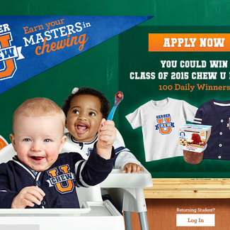 "Gerber® Helps Babies Master the Chew with ""Chew University"""