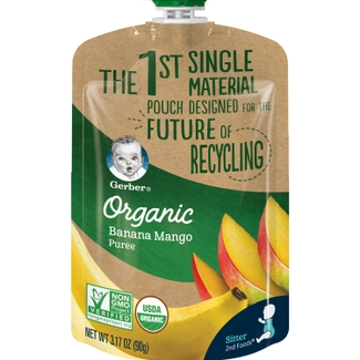 Gerber Announces Baby Food Industry's First Single-Material Pouch