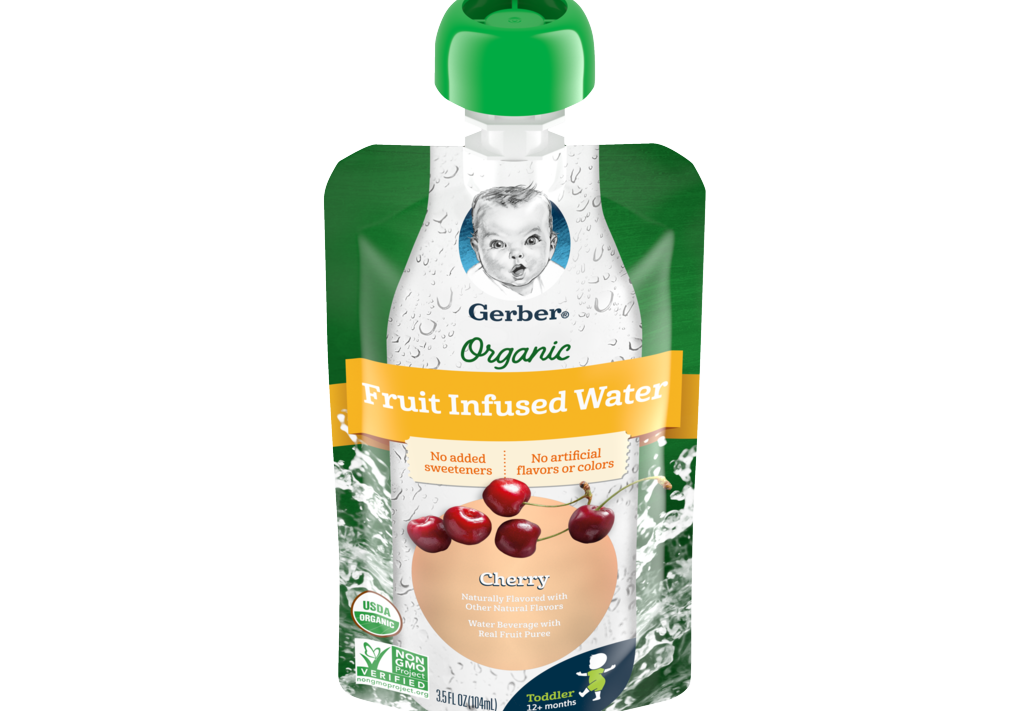 Gerber® Organic Fruit Infused Water Provides Summertime Hydration Toddlers Will Love