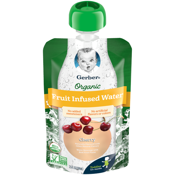 Gerber Organic Fruit Infused Water Pouch