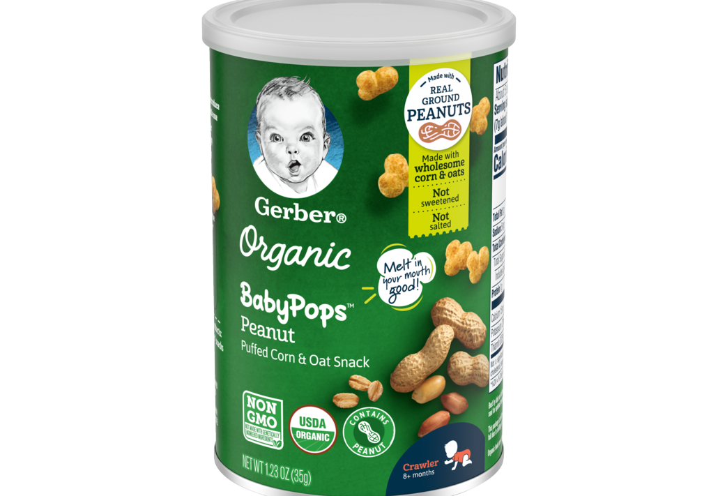 Gerber® Launches New Organic Snack Line BabyPops™ for Crawlers Learning to Self-Feed