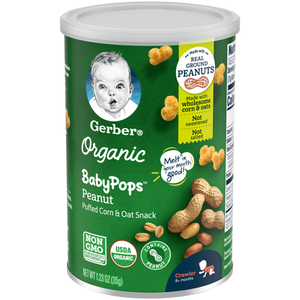Gerber Organic BabyPops Peanut