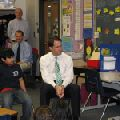 Congressman Jim Himes visits Jefferson Elementary School to observe Project L.E.A.N. childhood obesity program