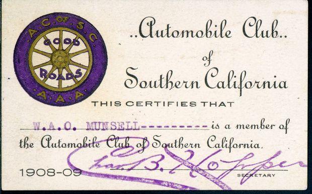 Membership Card, 1908