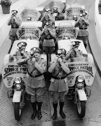 Auto Club Service Patrol motorcycles, mid-1930s