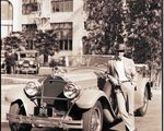 Exchange Manager and his Packard, 1928