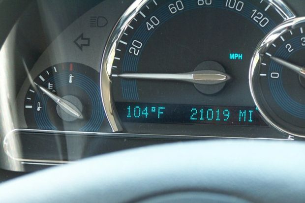 100 degrees hot car by Joseph Novak
