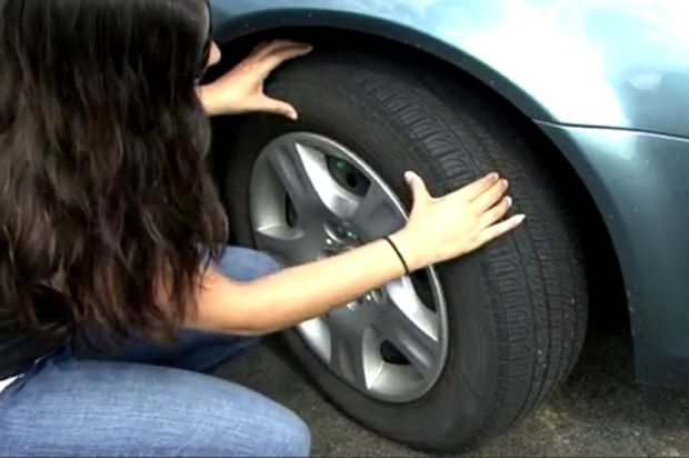 checking tires