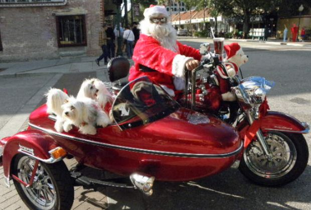 Santa cycle by Clyde Robinson