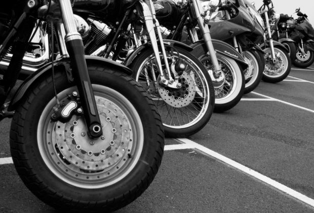 Motorcycle wheels by Brian Snelson