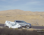 Test Vehicle Colliding with Simulate Disabled Vehicle 2