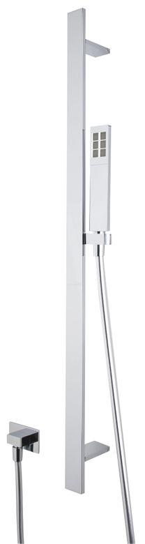 Modern Rectangular Shower Bar Set with Handshower