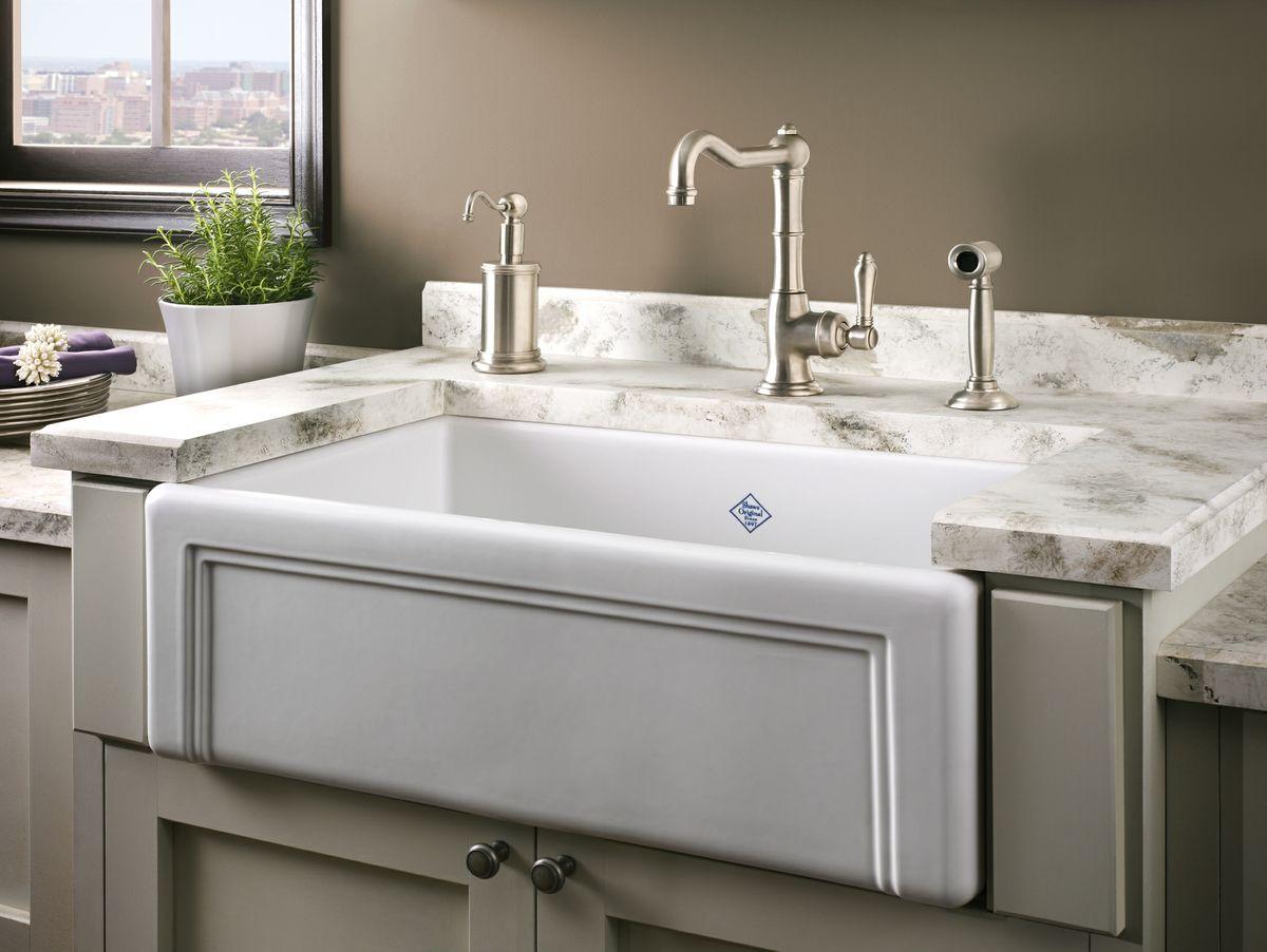 Shaws Original Casement Edge Font Single Bowl Fireclay Apron Kitchen Sink