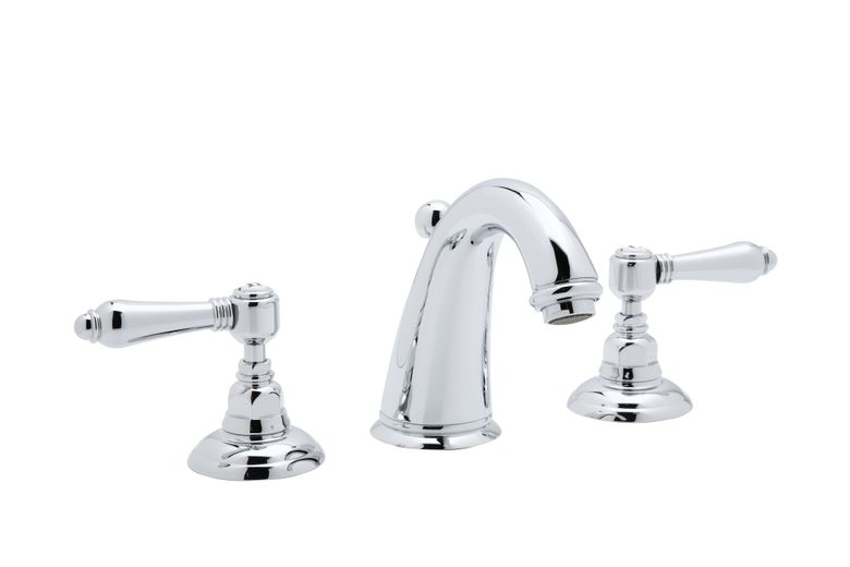 ROHL Italian Country Bath Collection San Julio C-Spout 3-Hole Widespread Lavatory Faucet