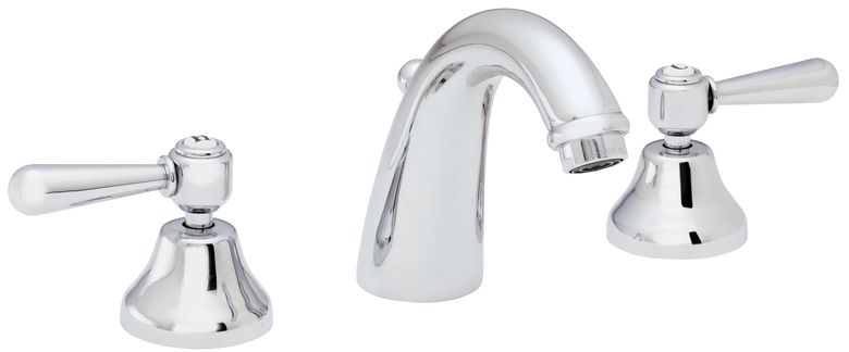 ROHL Italian Country Bath Collection Verona C-Spout Widespread Faucet with Metal Levers