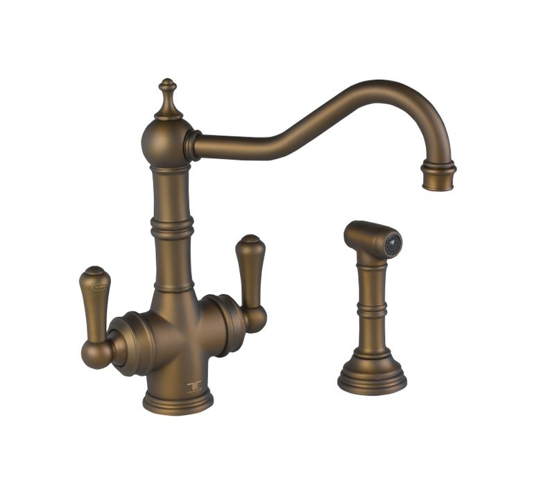 ROHL Perrin & Rowe® Traditional 2-Lever Kitchen Faucet with Sidespray