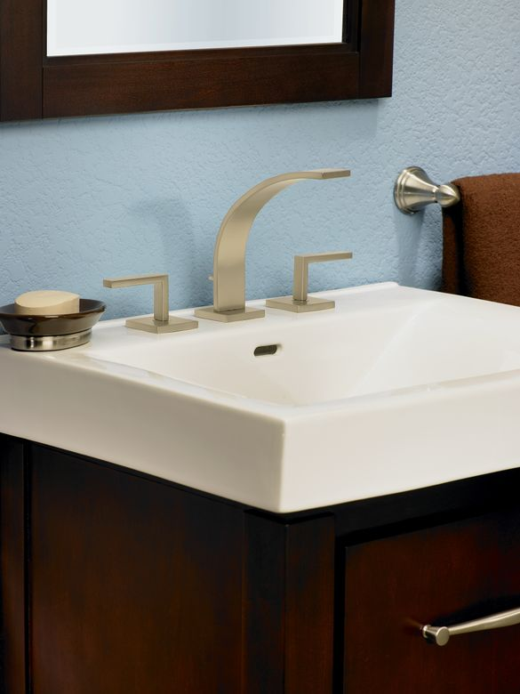 ROHL WAVE 3-Hole Deck Mounted Widespread Faucet with Lever Handles