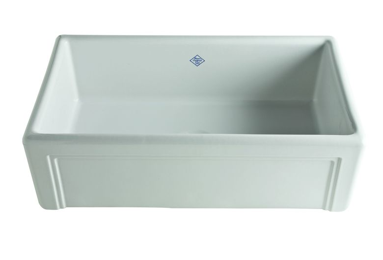 ROHL Shaws Fireclay Original Casement Edge Font Single Bowl Apron Kitchen Sink
