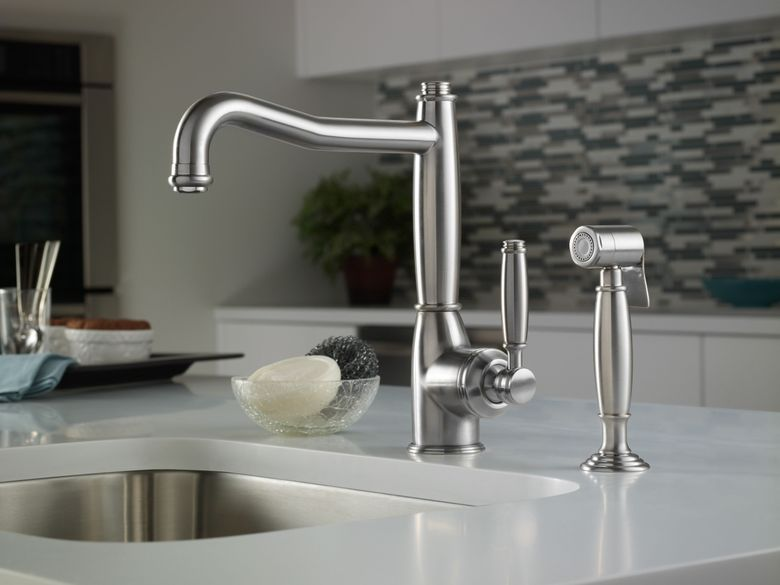 ROHL Michael Berman Single Lever Single Hole Kitchen Faucet with Sidespray