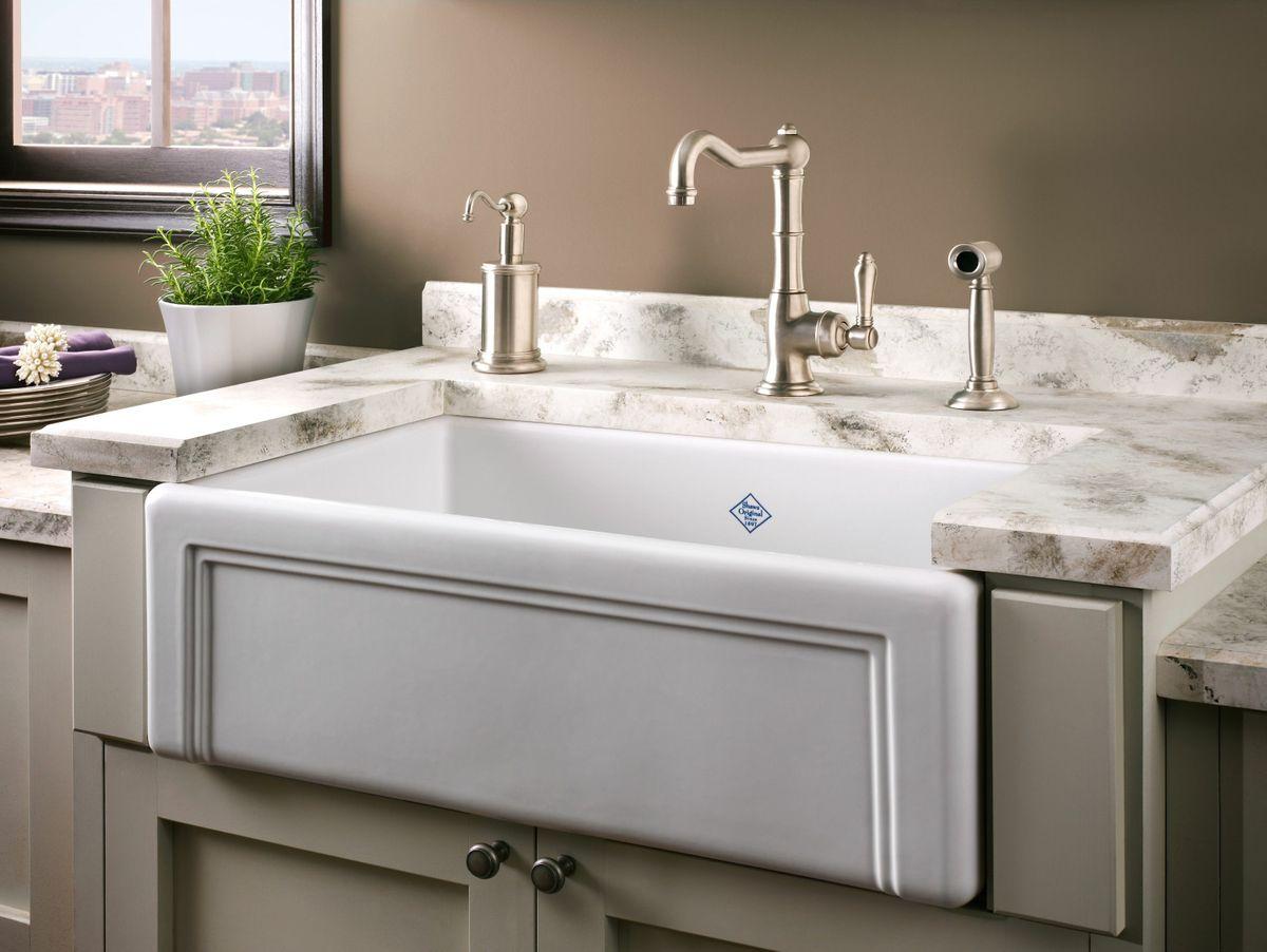 Attractive Shaws Original Casement Edge Front Single Bowl Apron Kitchen Sink