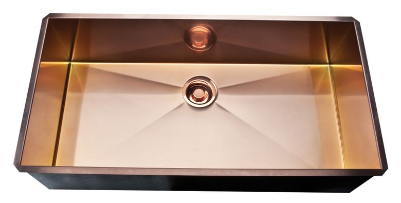 "36"" Luxury Copper Stainless Kitchen Sink"