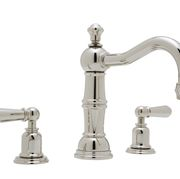 ROHL Perrin & Rowe Three-Hole Traditional Country Spout Widespread Faucet