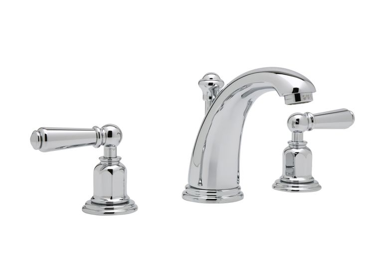 Perrin & Rowe® Edwardian  3-Hole High Arc Spout Widespread Lavatory Faucet (U.3760L)