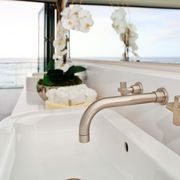 ROHL Modern Architectural Wall Mounted Lavatory Mixer