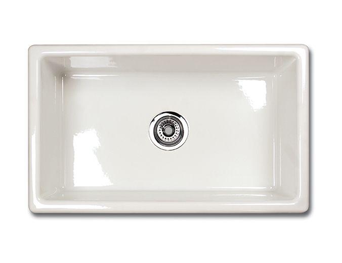 Shaws Classic Single Bowl Modern Undermount Fireclay Sink (UM3018)