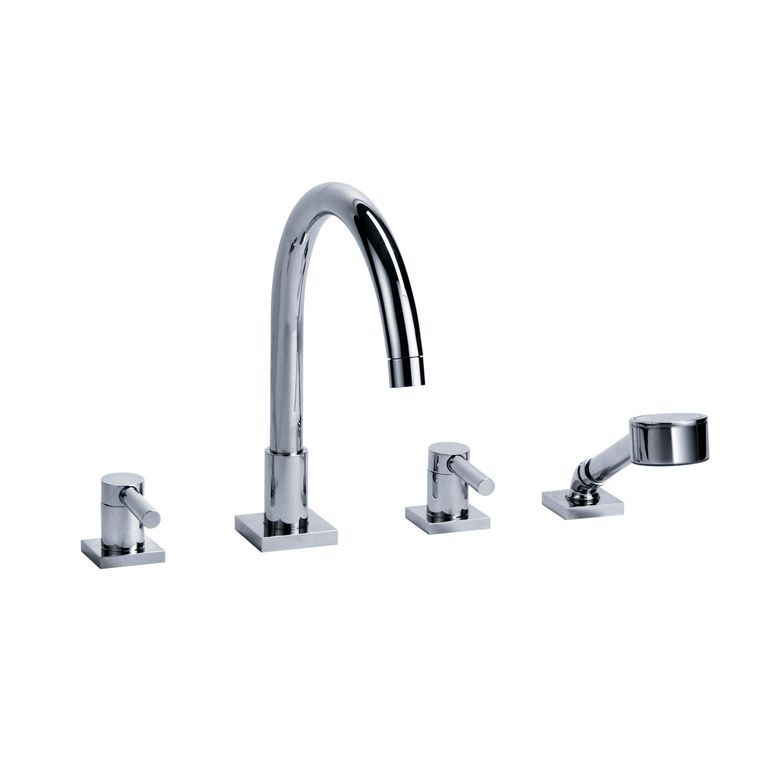 Jörger Charleston Square 4-Hole Tub Filler