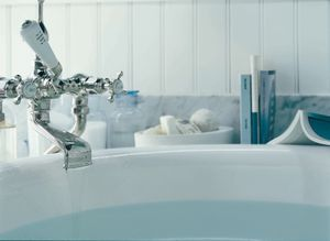 ROHL Perrin & Rowe® Edwardian Exposed Floor Mounted Bathtub Filler with Handshower