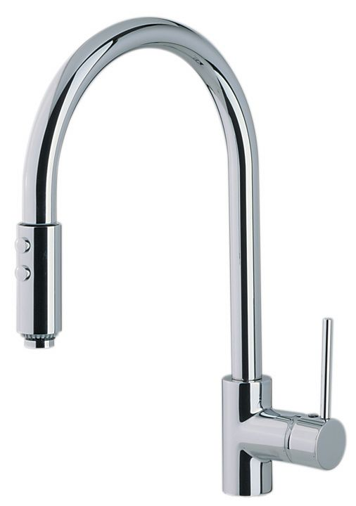 ROHL Modern Architectural Side Lever Pull-Down High Spout Kitchen Faucet