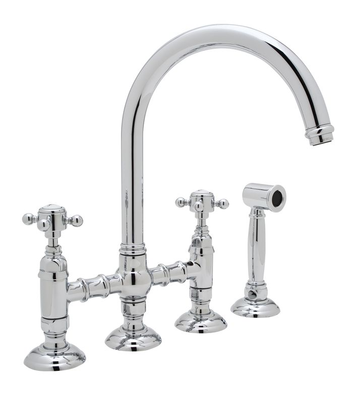 ROHL Country Kitchen C-Spout Bridge Faucet