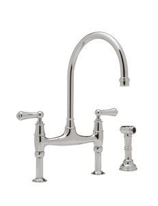 ROHL Perrin & Rowe® Bridge Kitchen Faucet With Sidespray
