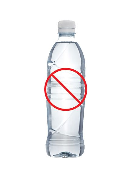 Eliminate the need for plastic water bottles.