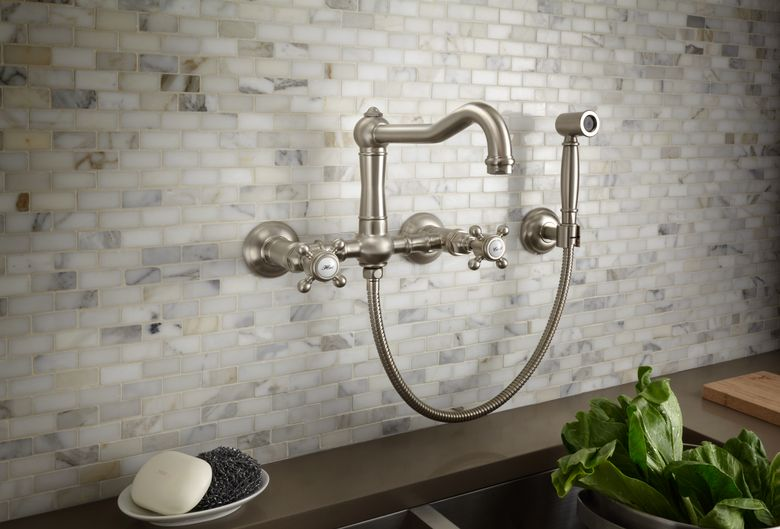 ROHL Wall Mount Country Kitchen Bridge Faucet