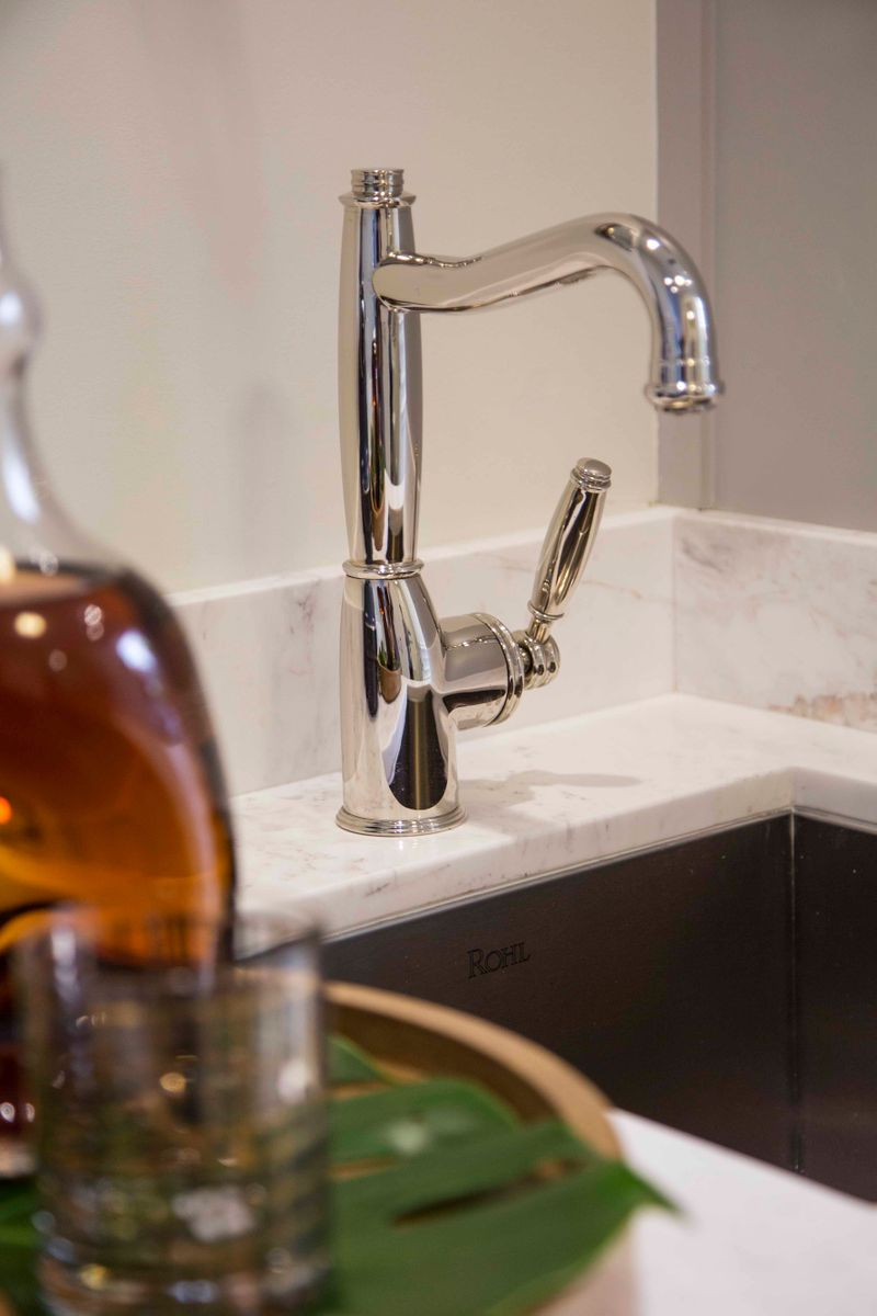 Fairmont Miramar Hotel & Bungalows Wet Bar featuring ROHL_tight shot