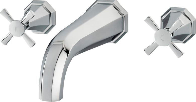 Perrin & Rowe Deco Wall Mount Tub Filler
