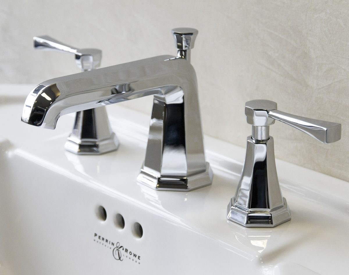 ROHL Perrin & Rowe Deco 3 Hole Basin Widespread Lavatory Faucet