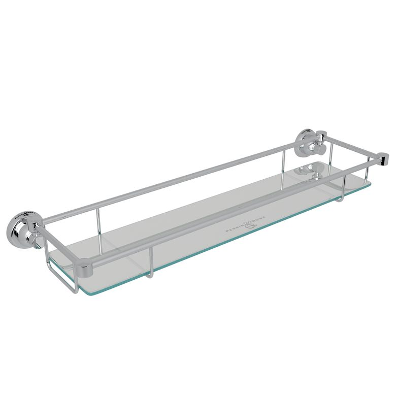 ROHL Perrin & Rowe Holborn Wall Mount Glass Vanity Shelf_U6453APC