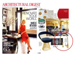 ROHL Adds Some Glam in November Issue of Architectural Digest