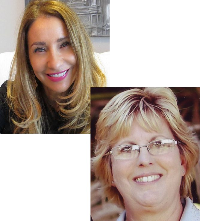Regina Sturrock and Staci Garcia