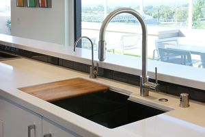 A Perfectly Personalized Kitchen Sink with Integrated Accessories
