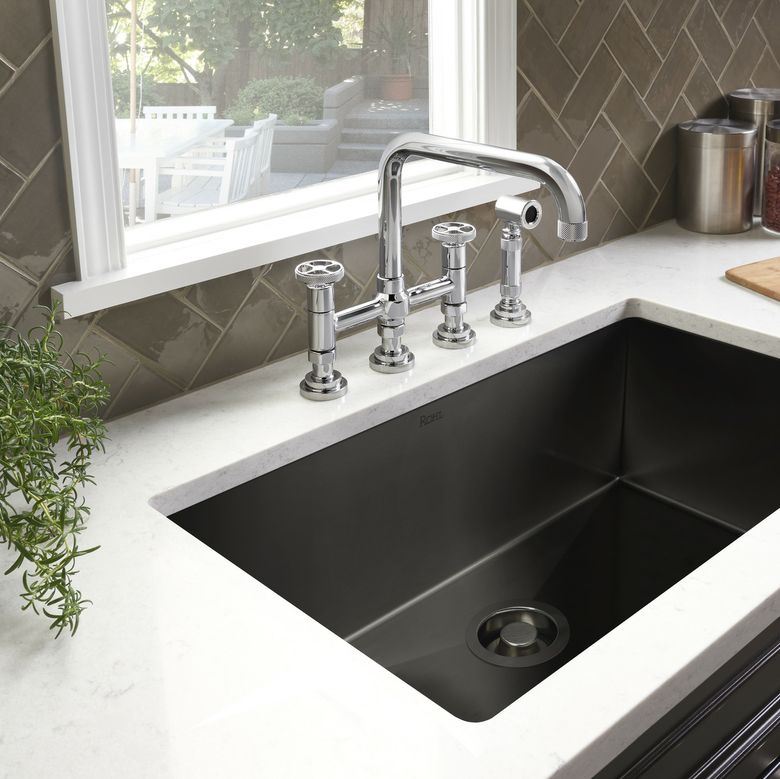ROHL Luxury Black Stainless Steel Kitchen Sink