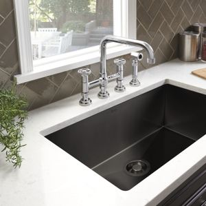 ROHL Adds Black Stainless Steel to Award-Winning Luxury Stainless Steel Sink Collection
