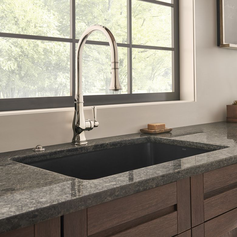 ROHL Italian Patrizia Pull-Down Kitchen Faucet_Lifestyle Image_Cropped